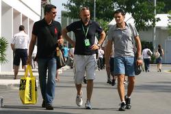 Giancarlo Fisichella, Force India F1 Team and his manager Enrico Zanarini