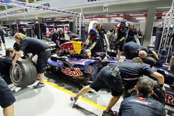 A Red Bull Racing pit stop practice