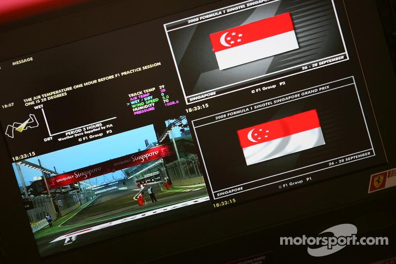 Screenshot am Ferrari-Kommandostand