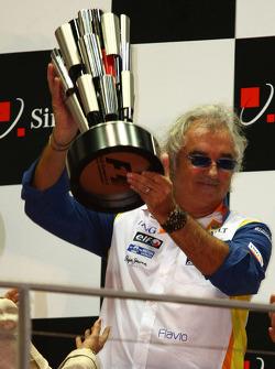 Podium: Flavio Briatore, Renault F1 Team, Teamchef