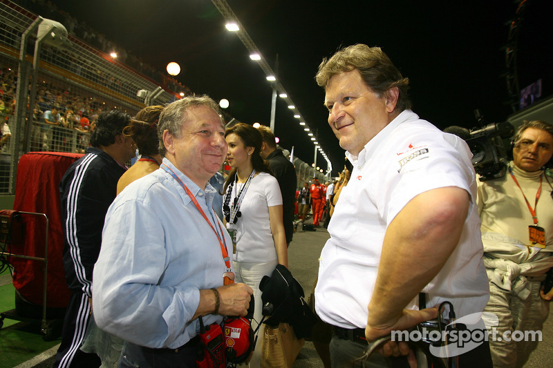 Jean Todt, Scuderia Ferrari, Teamchef; Norbert Haug, Mercedes, Motorsortchef