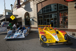 Petit Le Mans preview party at Atlantic Station: #15 Lowe's Fernandez Racing Acura ARX-01B Acura and #7 Penske Racing Porsche RS Spyder