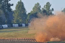 #8 BK Motorsports Lola B08/80 Mazda: Ben Devlin, Gerardo Bonilla crashes