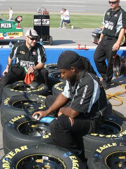 Furniture Row Chevy crew members prepare wheels