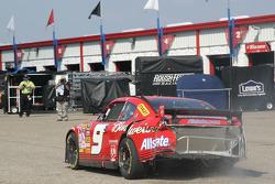 Kasey Kahne heads to garage after the crash