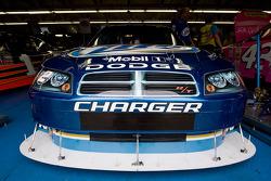 Kurt Busch's Miller Light Dodge sits in the garage