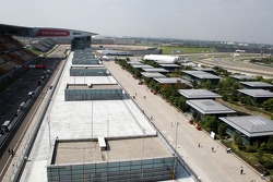 Over view of the paddock and track