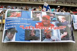 Banners for Kimi Raikkonen, Scuderia Ferrari