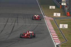Kimi Raikkonen, Scuderia Ferrari, F2008 leads Felipe Massa, Scuderia Ferrari