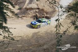 #30 Abir Al Batikhi Subaru Impreza WRX: Abir Al Batikhi and Mike Haddad