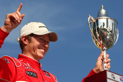 Podium: race winner Ryan Briscoe