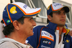 Nelson A. Piquet, Renault F1 Team and his father Nelson