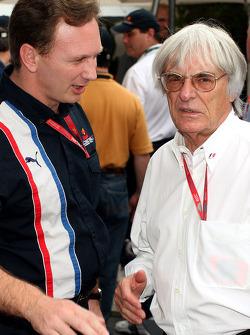 Christian Horner y Bernie Ecclestone