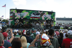 REO Speedwagon performs the pre-race show