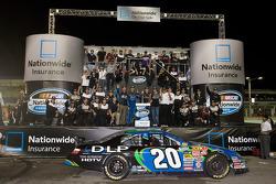Championship victory lane: 2008 NASCAR Nationwide Series owner's champion  Joe Gibbs Racing