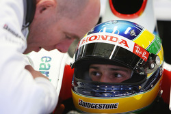 Bruno Senna, Test Driver, Honda Racing F1 Team, Jock Clear, Honda Racing F1 Team, Senior Race Engineer to Rubens Barrichello