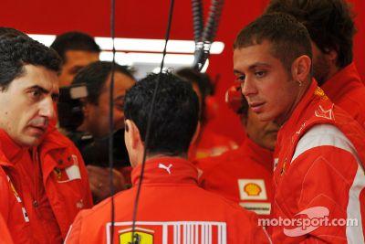Valentino Rossi Ferrari F2008 test