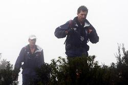 Launceston, Australia: Team RBS cross the peak of Mount Claude