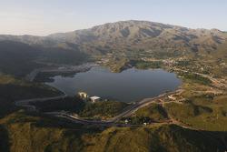 Aerial view of Lago Potrero de los Funes