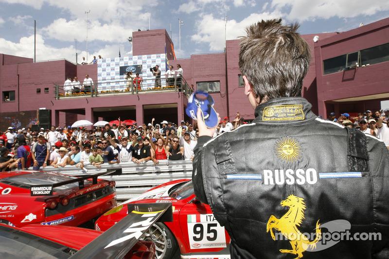 GT2 class winner Matias Russo celebrates