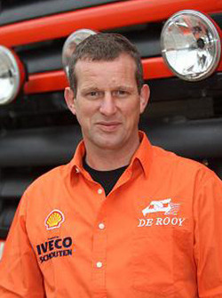 Team de Rooy: Hugo Duisters, driver rally truck #518