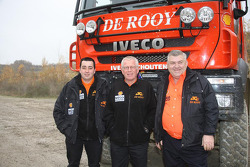 l'équipe de Rooy: pilote Jan de Rooy, co-pilote Dany Colebunders,membre d'équipage Darek Rodewald