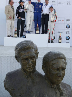Podium: World Final winner Alexander Rossi, second place Michael Christensen, third place Esteban Gutierrez with Dr. Mario Theissen and Robert Kubica