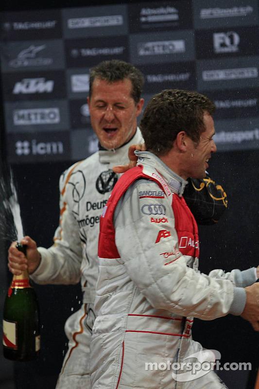Podium: Michael Schumacher and Tom Kristensen