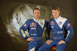 Volkswagen Motorsport: driver Giniel de Villiers and co-driver Dirk von Zitzewitz
