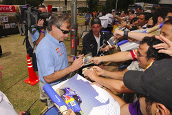 Carlos Sainz signs autographs