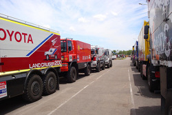 Team de Rooy trucks arrive at the port of Buenos Aires