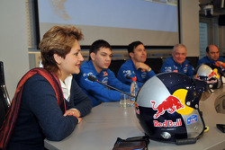 Team Kamaz Master departure press conference at the Moscow airport