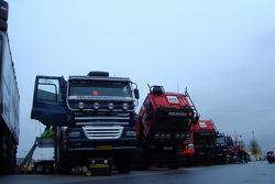Trucks at scrutineering