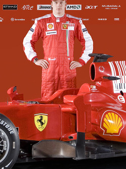 Kimi Raikkonen with the new Ferrari F60