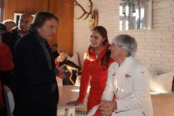 Luca di Montezemolo, Tamara Ecclestone y Bernie Ecclestone