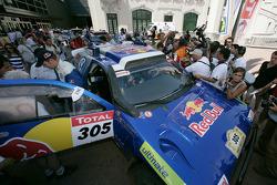 Car category winners Giniel De Villiers and Dirk Von Zitzewitz celebrates