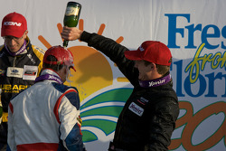 ST podium: class winners Ashley McCalmont and Kirk Spencer celebrate