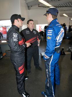 David Stremme, Penske Racing Dodge, and Kurt Busch, Penske Racing Dodge