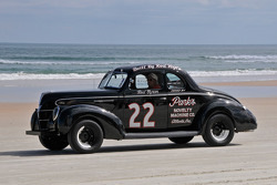 Living legends of auto racing beach parade: Frod 1949