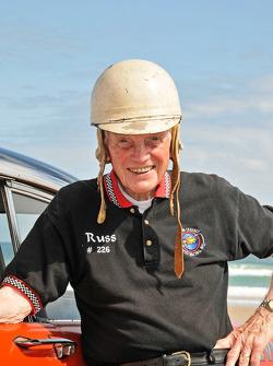 Living legends of auto racing beach parade: Russ Truelove
