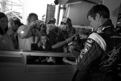 Kasey Kahne, Richard Petty Motorsports Dodge, signs autographs