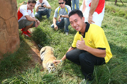Fairuz Fauzy, driver of A1 Team Malaysia at the Rhino and Lion Nature Reserve