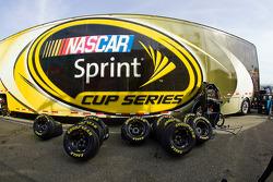 The NASCAR Sprint Cup hauler