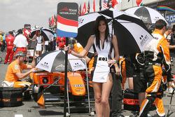 Grid girl of Jeroen Bleekemolen, driver of A1 Team Netherlands