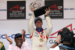 Podium: race winner Neel Jani celebrates
