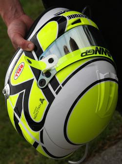 The new helmet of Jenson Button, Brawn GP