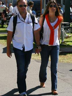 Rubens Barrichello, Brawn GP with his wife  Silvana Barrichello