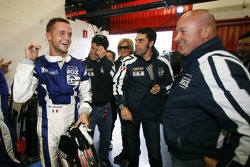LMP2 pole winner Giacomo Piccini celebrates