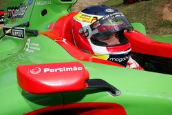 Filipe Albuquerque, driver of A1 Team Portugal with his A1GP car