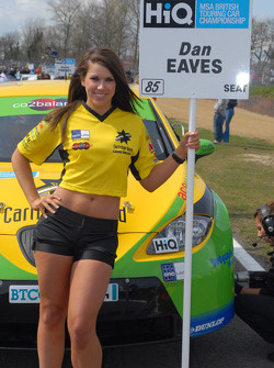 Sophie Fisher grid girl of Dan Eaves